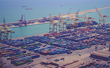 image of a shipping port
